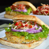 White Bean Bruschetta Burger