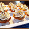 Almond Poppyseed Cupcakes-Almond Buttercream Frosting