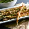 Asparagus Sticks with Horseradish Mustard Dip