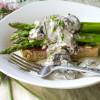 Asparagus Toast with Mushroom Gravy
