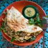 Indian Curry Pulled Chicken Sandwich