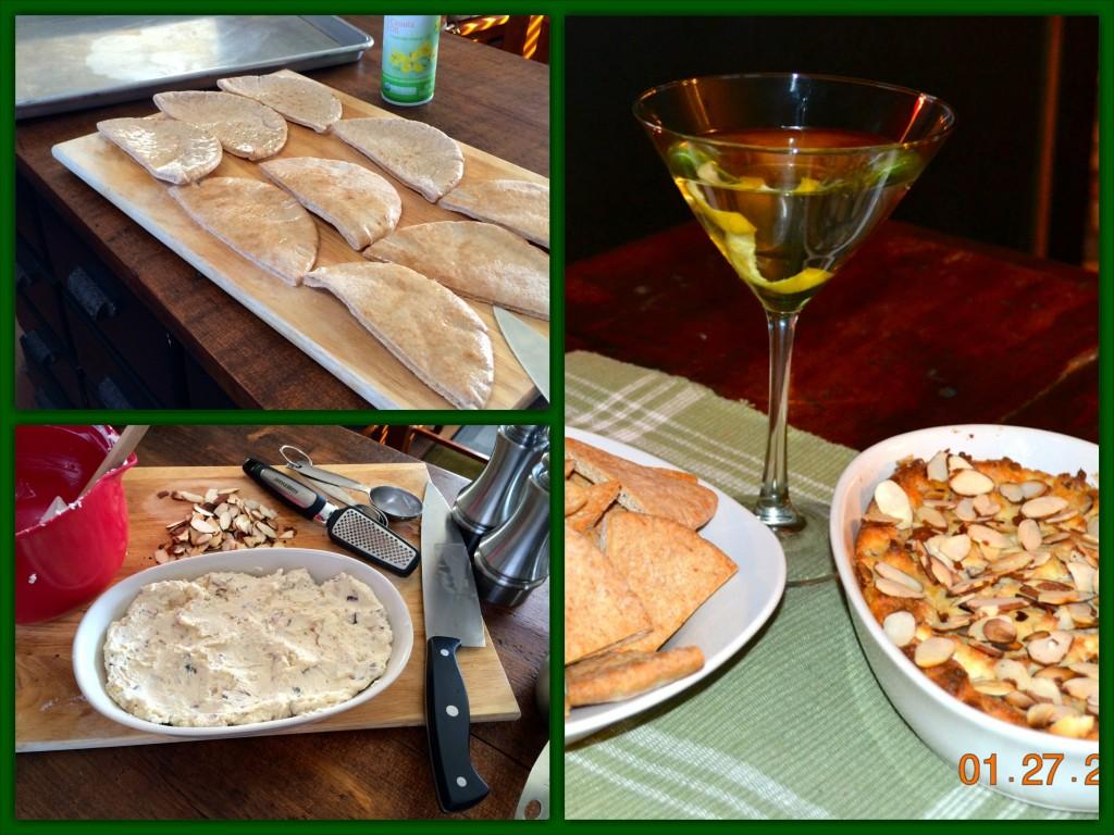 Almond Parmesan Dip Collage