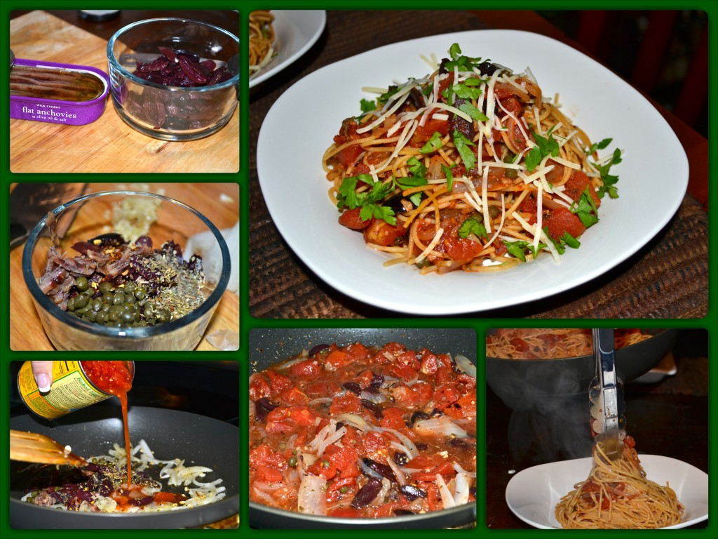 Pasta Puttanesca_Collage