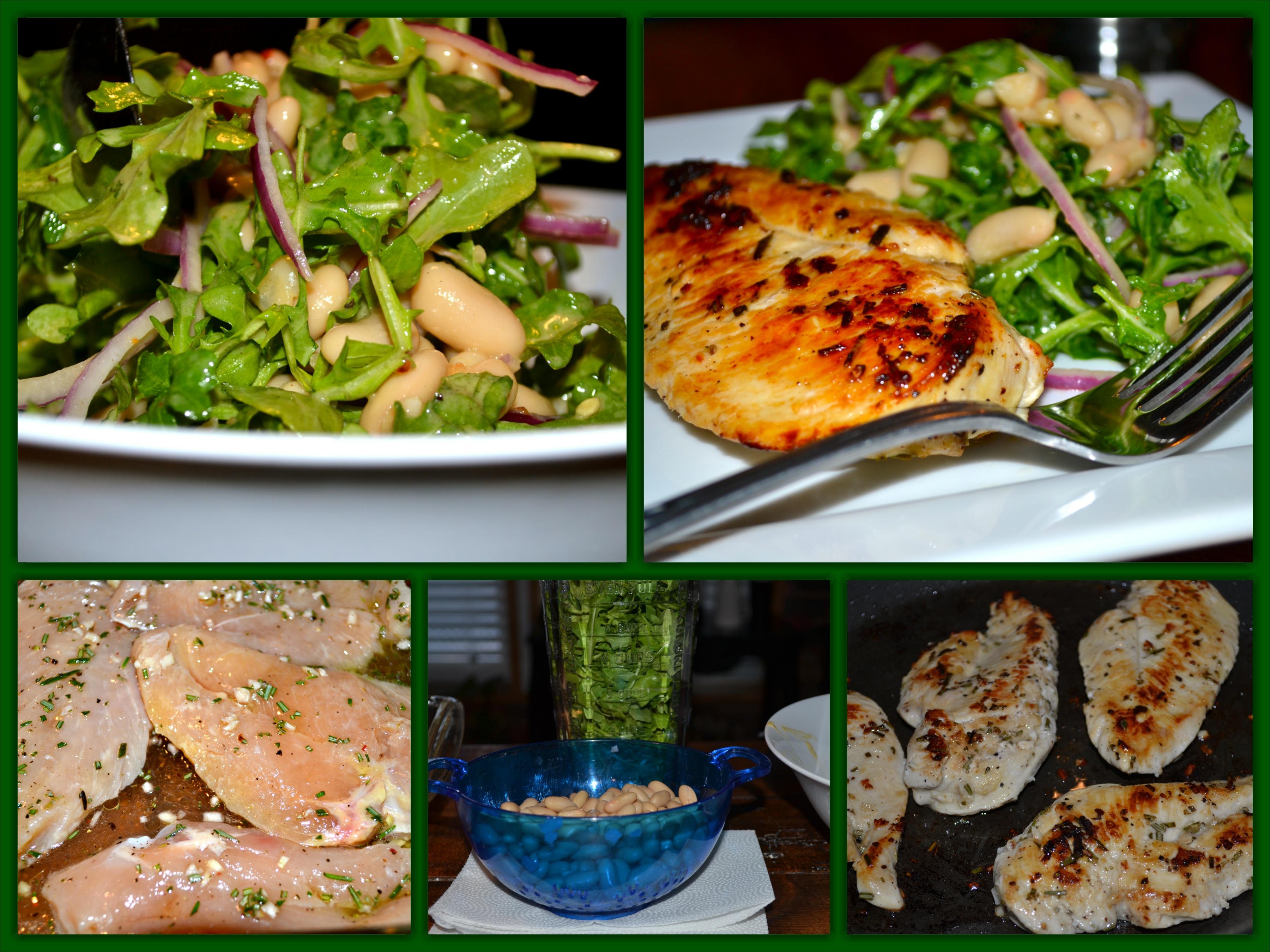 Chicken White Bean Salad Collage