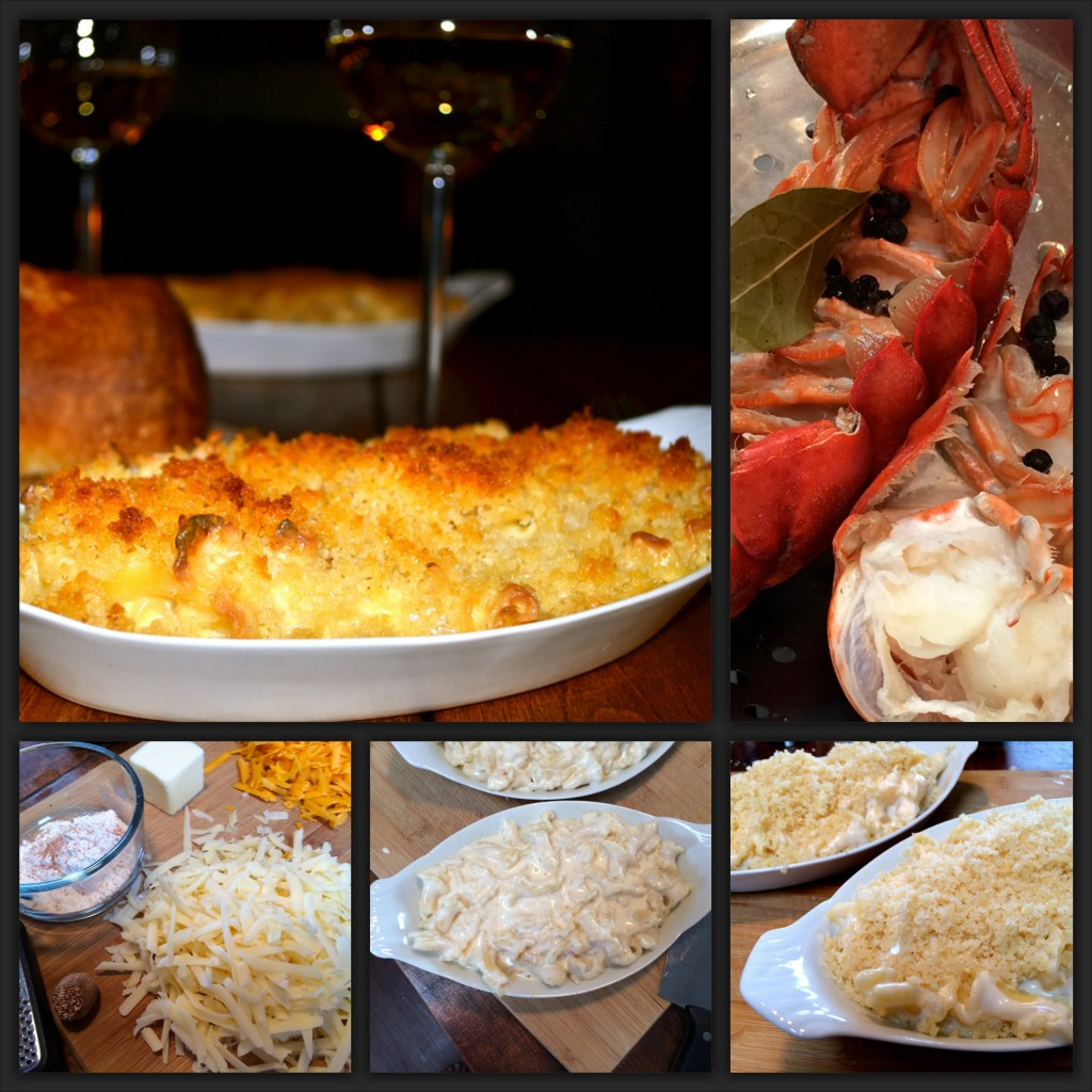 Lobster Mac & Cheese Collage