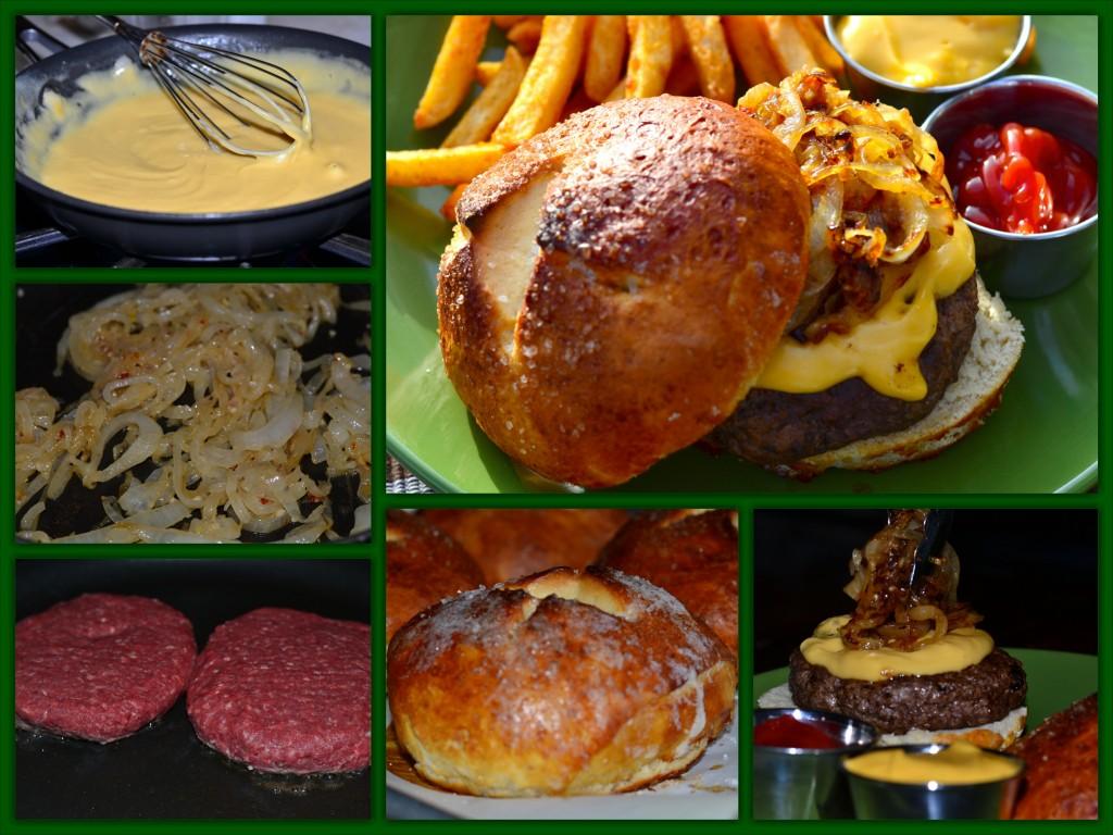 Pretzel Burger Collage