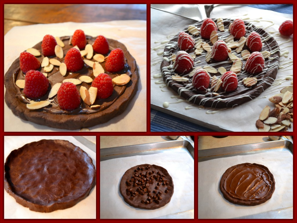 Chocolate Raspberry Cookie Collage