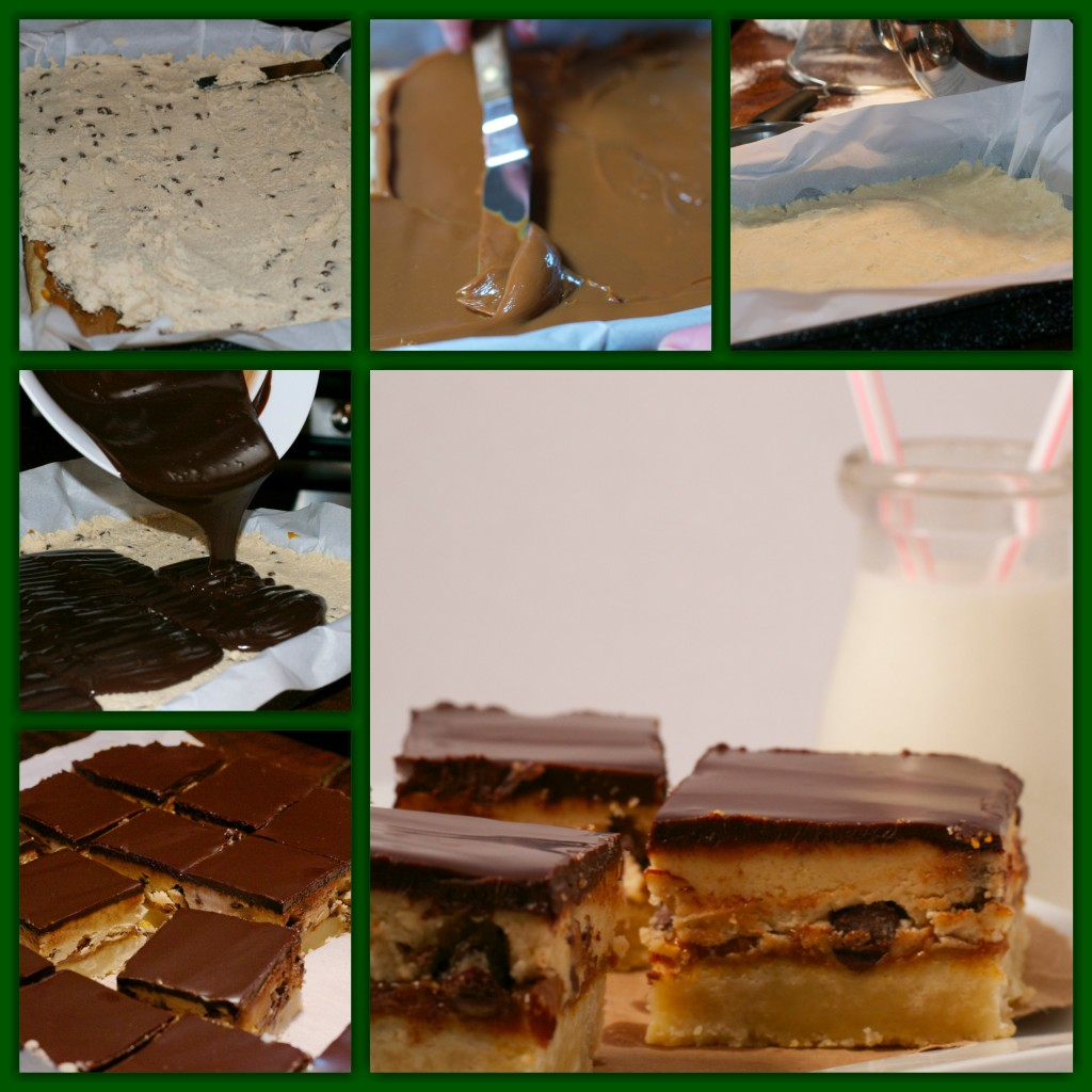 Caramel Cookie Dough Bars Collage