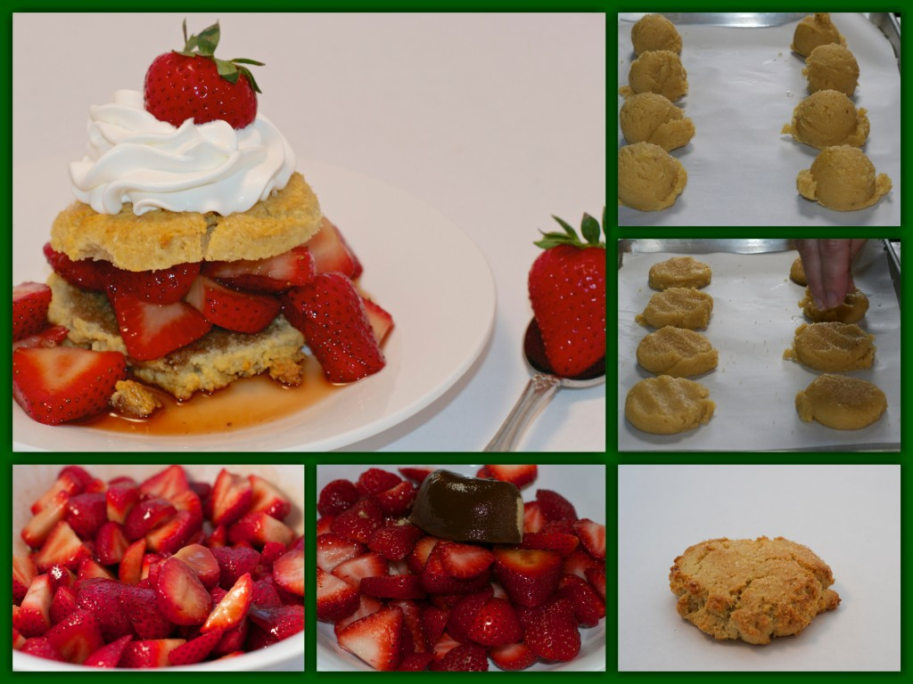 Gluten Free Strawberry Shortcake Collage