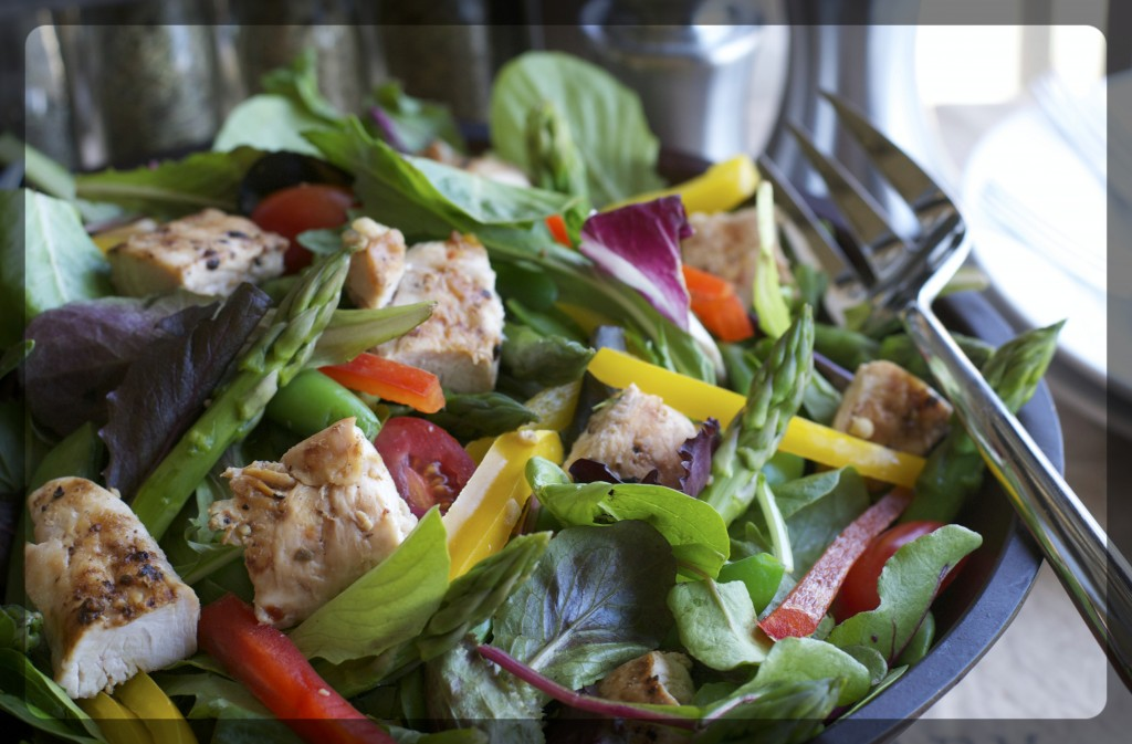 Grilled Chicken Veggie Salad