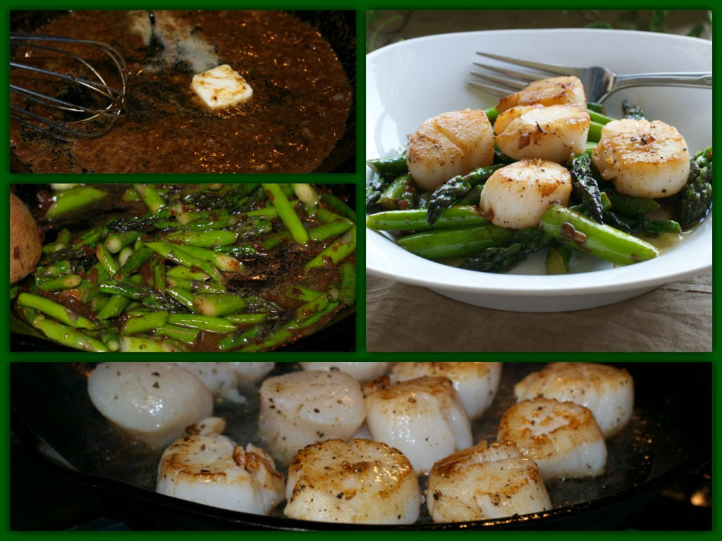 Asparagus Scallops Collage
