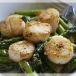 Asparagus and Scallops