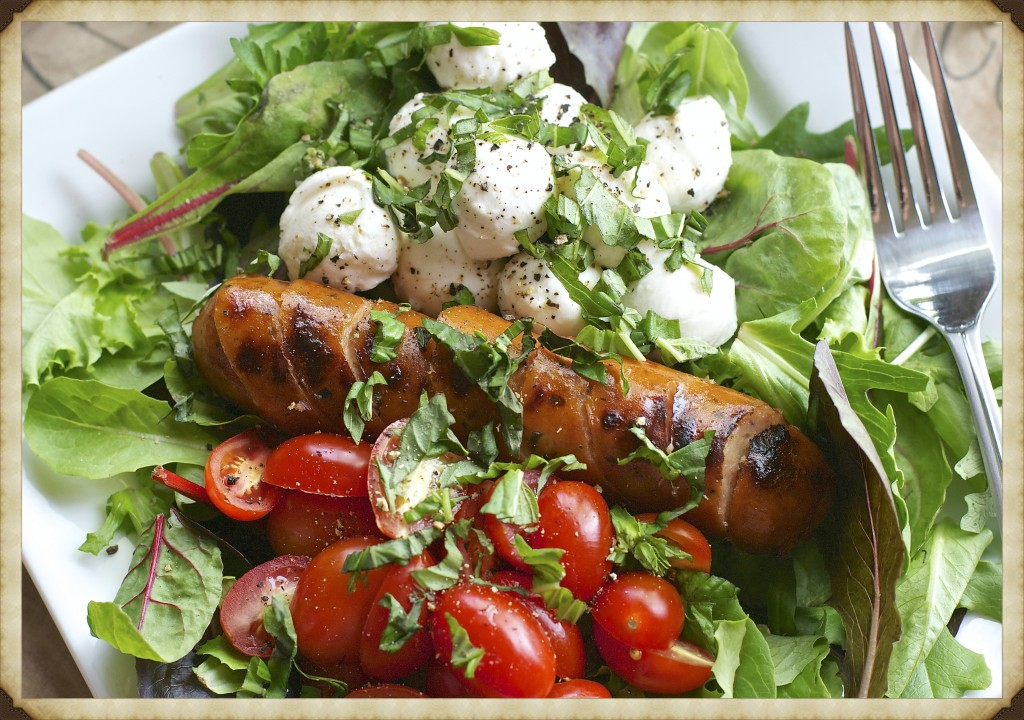 Grilled Sausage Caprese Salad