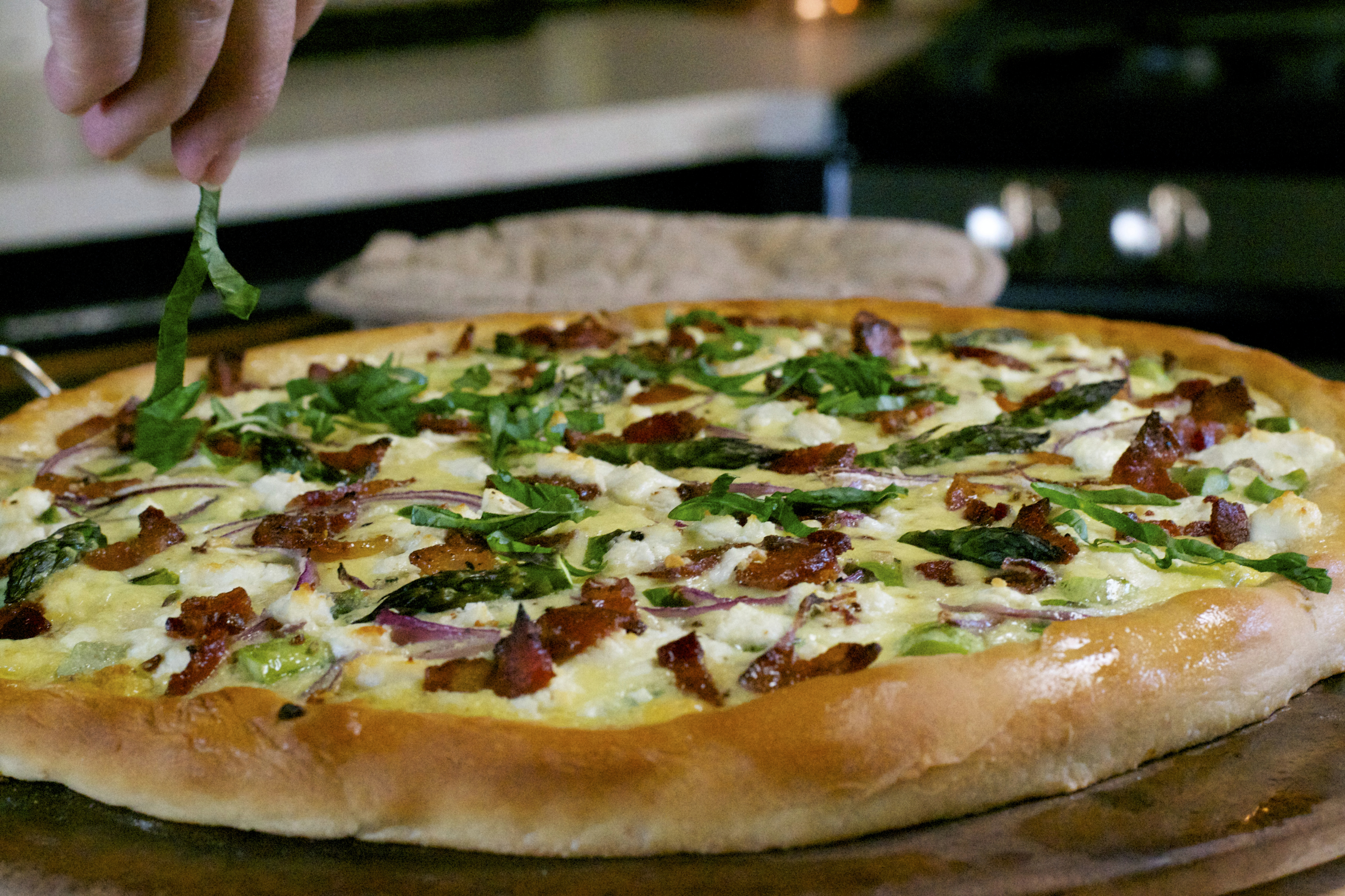 """Asparagus Goat Cheese Pizza-What the """"Forks"""" for Dinner?"""