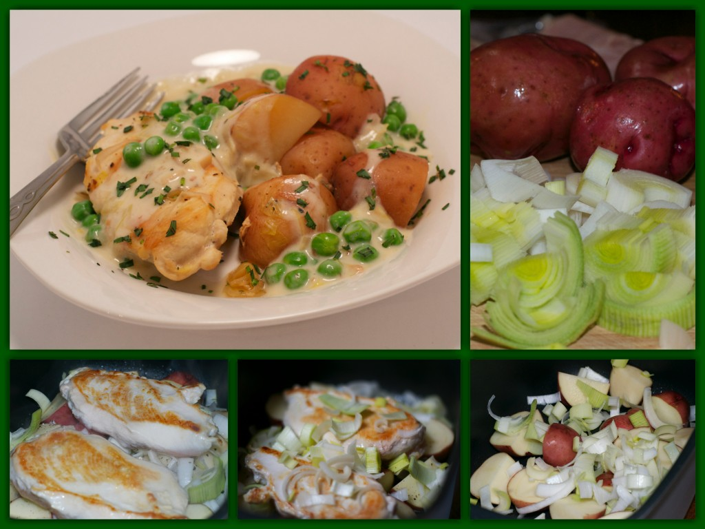 Crockpot Tarragon Leek Chicken Collage