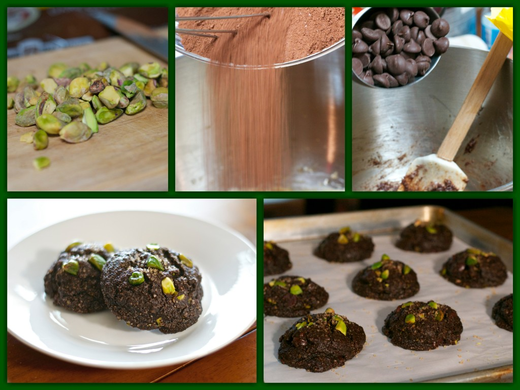 Gluten Free Double CHocolate Pistachio Cookie Collage