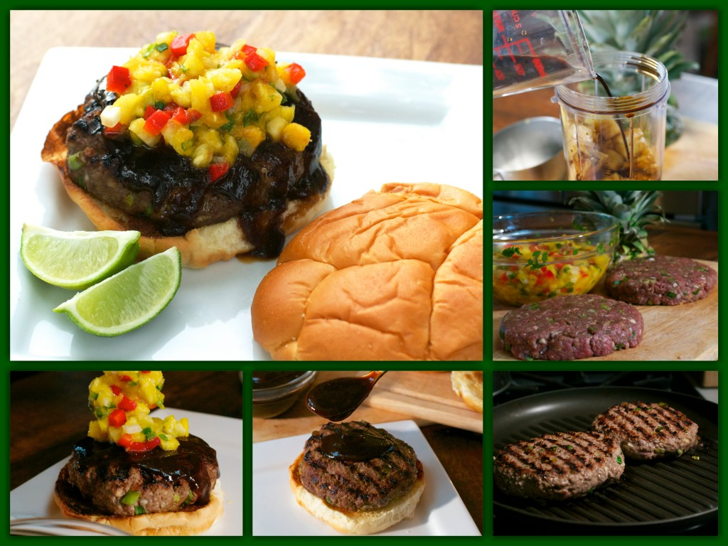 Teriyaki Burger Collage