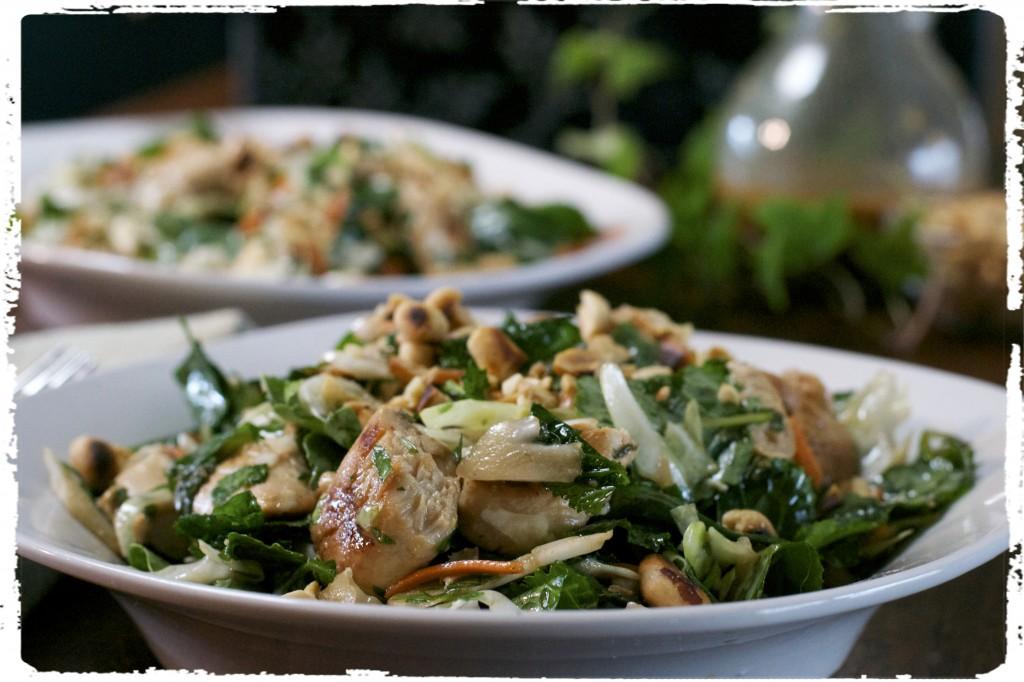 Roasted Peanut Kale Salad 1