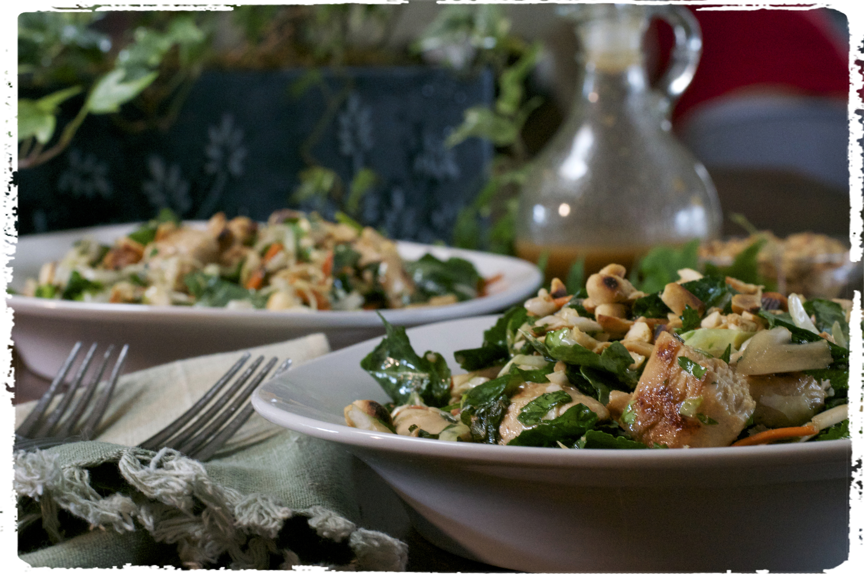 "Roasted Peanut Kale Salad-What the ""Forks"" for Dinner?"