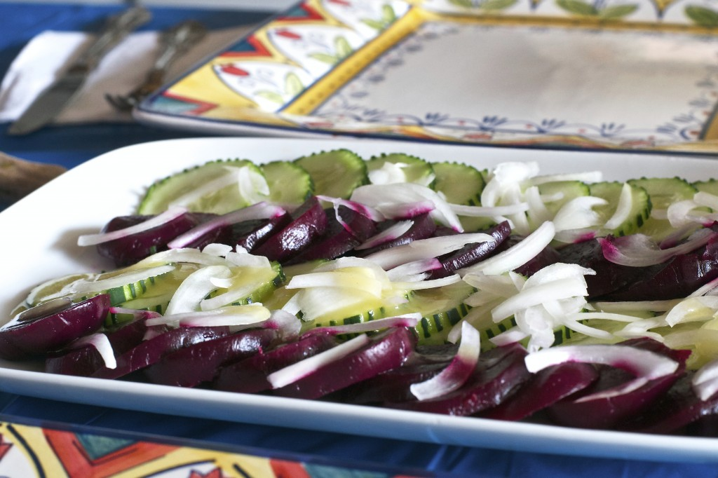 Beet Cucumber Onion Salad