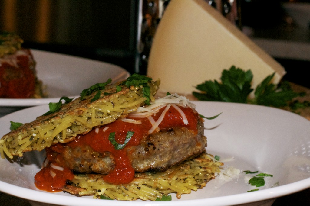 Italian Spaghetti and Meatball Burger 2