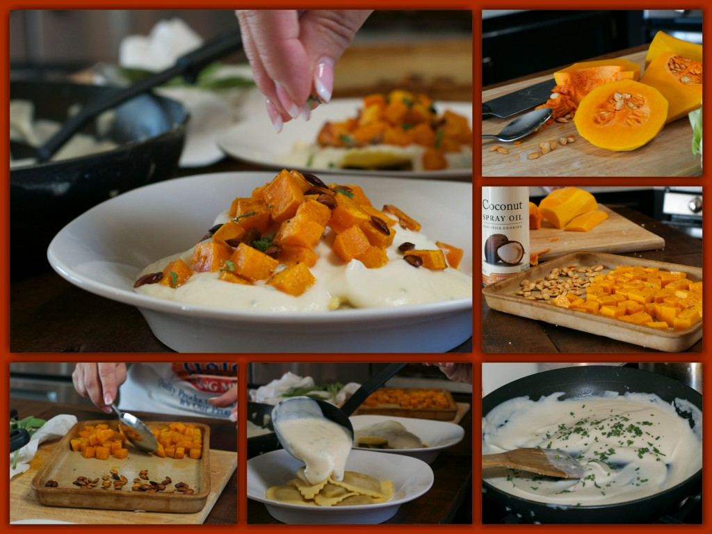 Roasted Butternut Squash Angolotti Collage