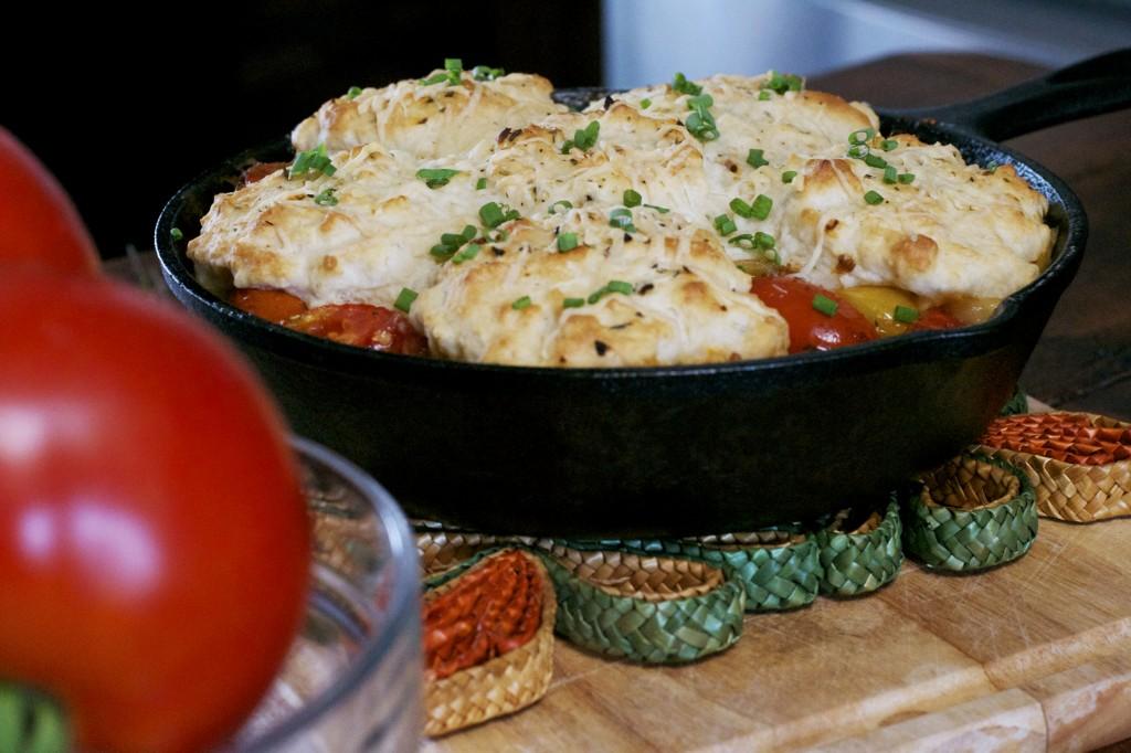 """Tomato Cobbler-What the """"Forks"""" for Dinner?"""
