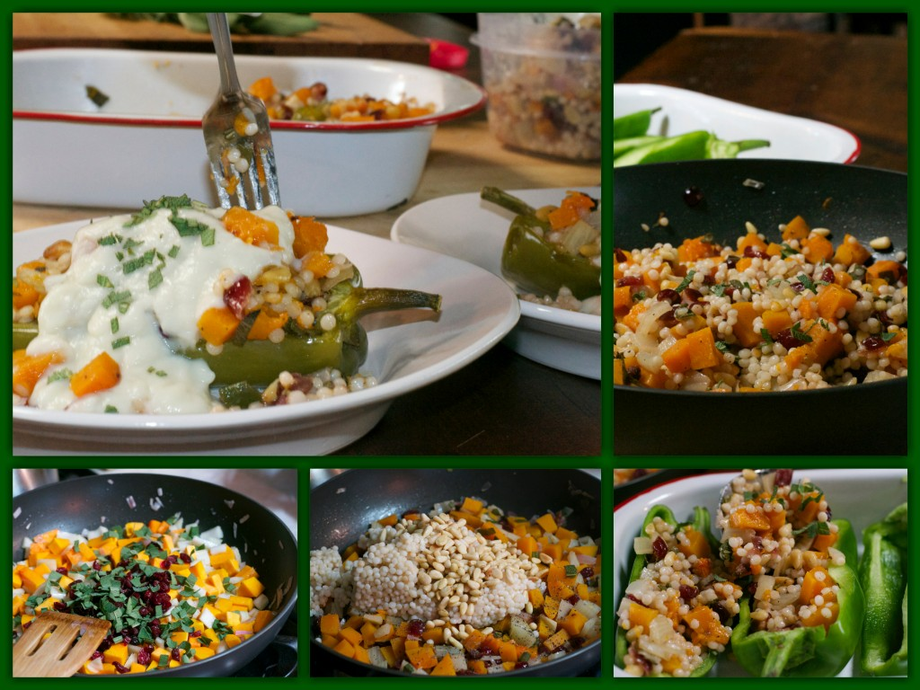 Autumn Couscous Stuffed Peppers Collage