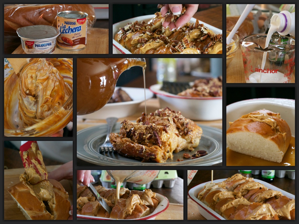 Caramel Pecan French Toast Collage