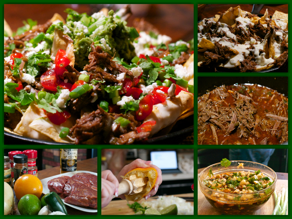 Carne Asada Nachos Collage