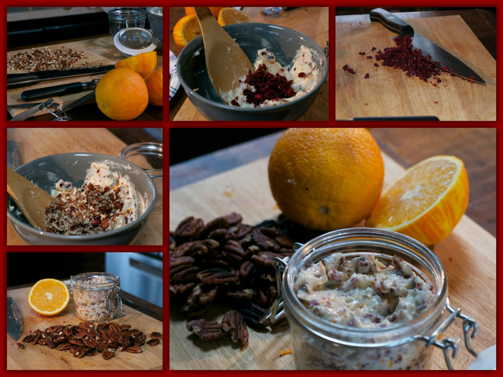 Cranberry Pecan Orange Butter Collage