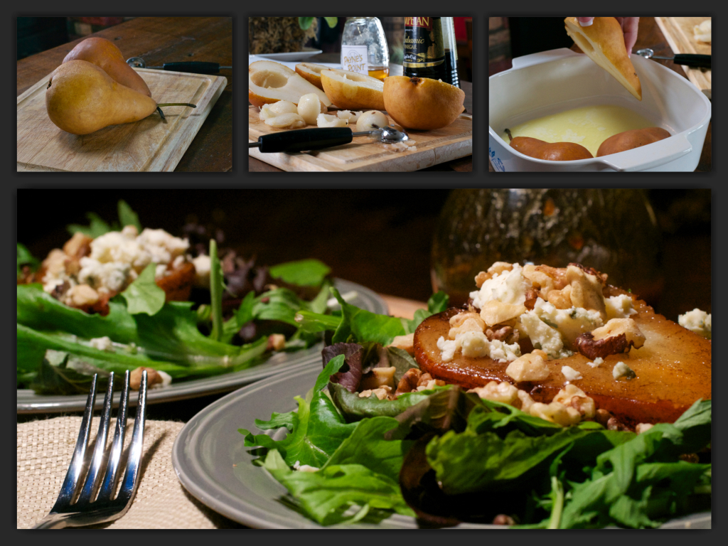 Roasted Pear Salad Collage