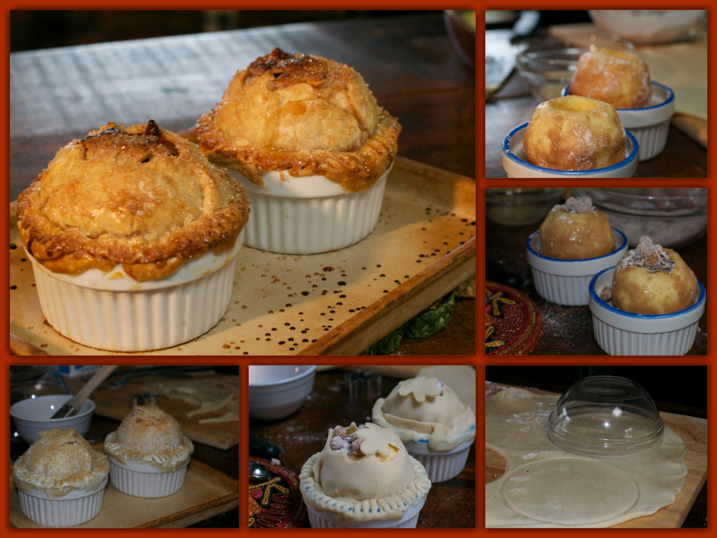 Caramel Pecan Apple Pie Cups Collage
