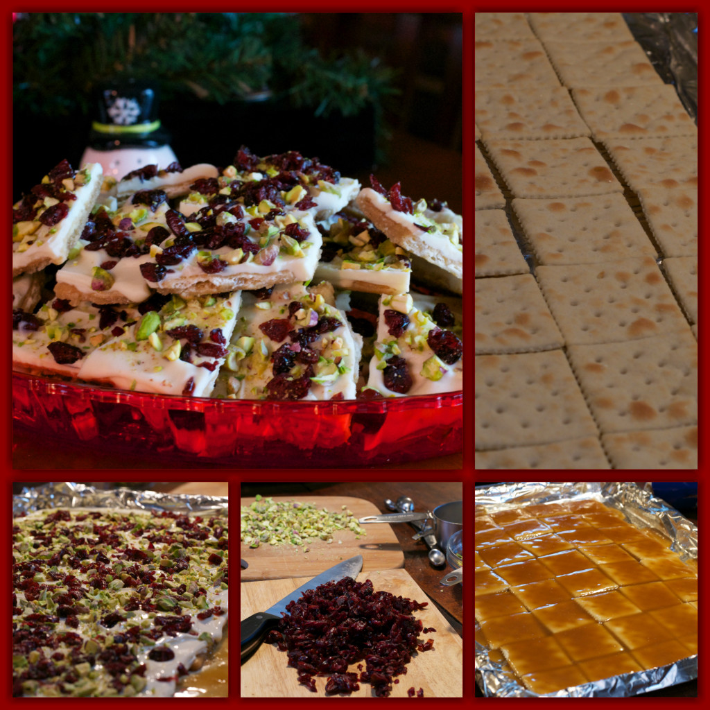 Pistachio Cranberry Crack Collage