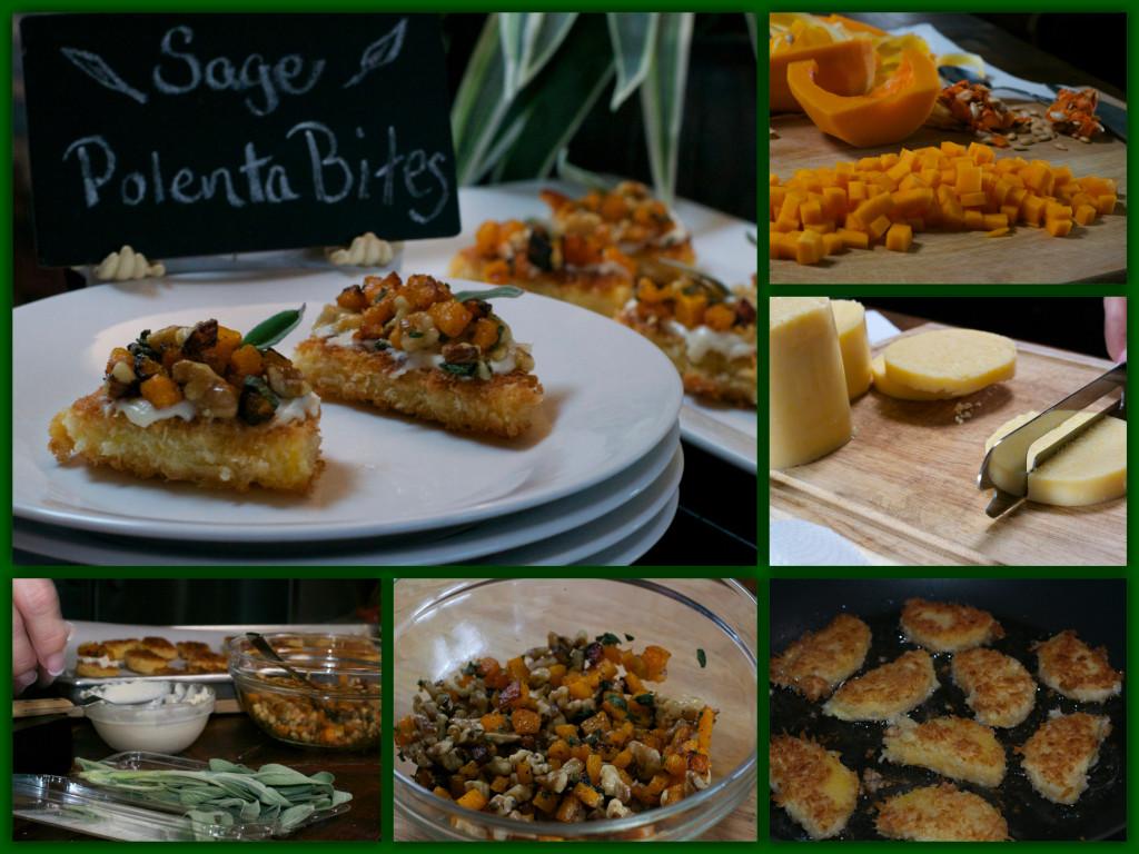 Sage Polenta Bites Collage