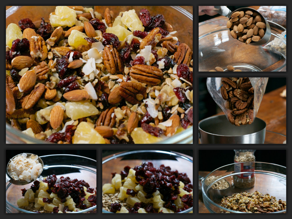 Fruity Nut Mix Collage
