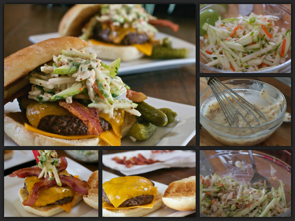Johnny Appleslaw BurgerCollage
