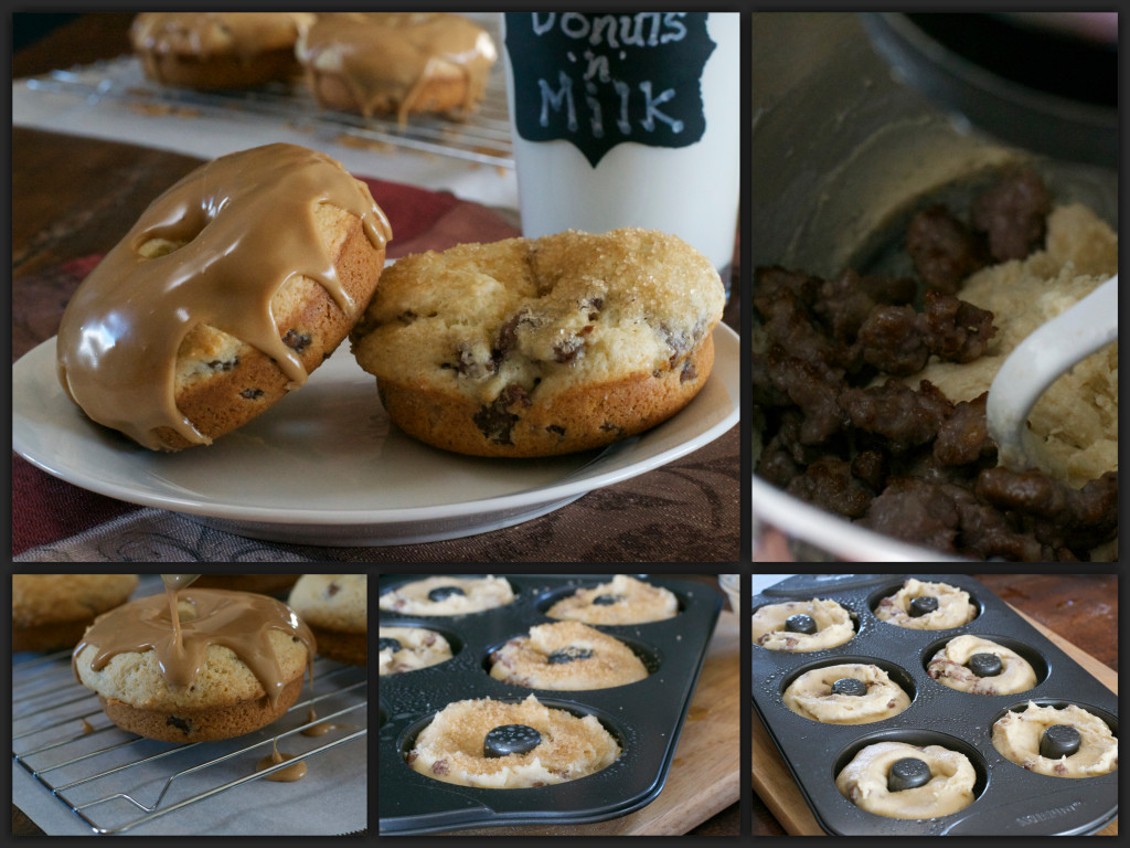 Maple Sausage Donuts Collage