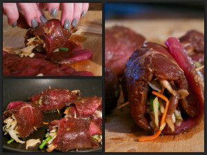 Moo Shu Pork Roll Collage