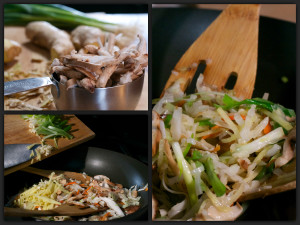Moo Shu Pork Veggies Collage