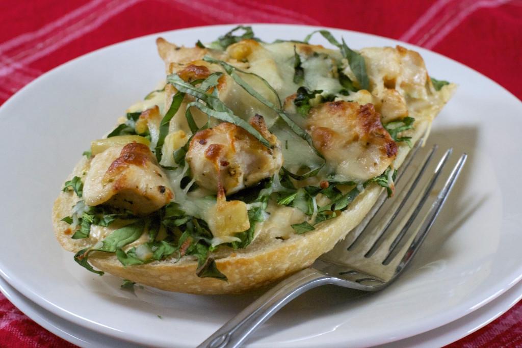 Garlic Chicken Pizza Slice