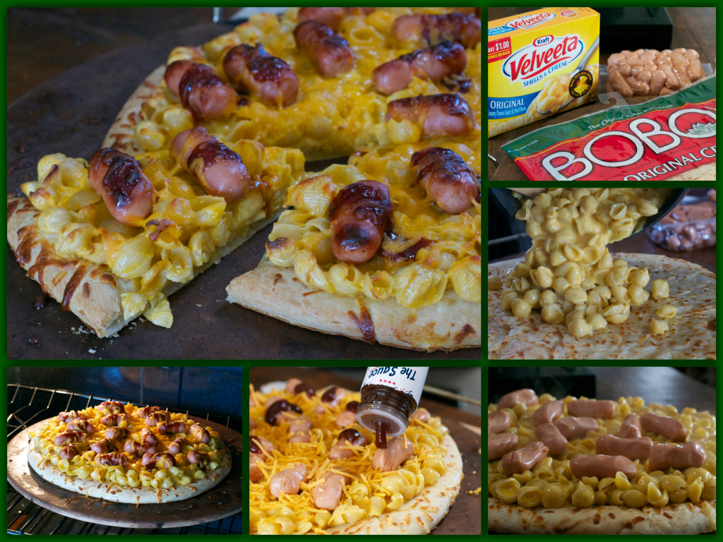 Lit'l Weiner Shells and Cheese Pizza Collage