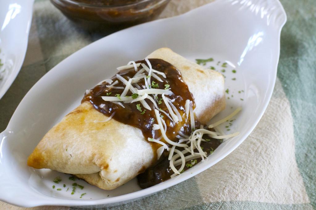 Rueben Burrito with Guinness Gravy