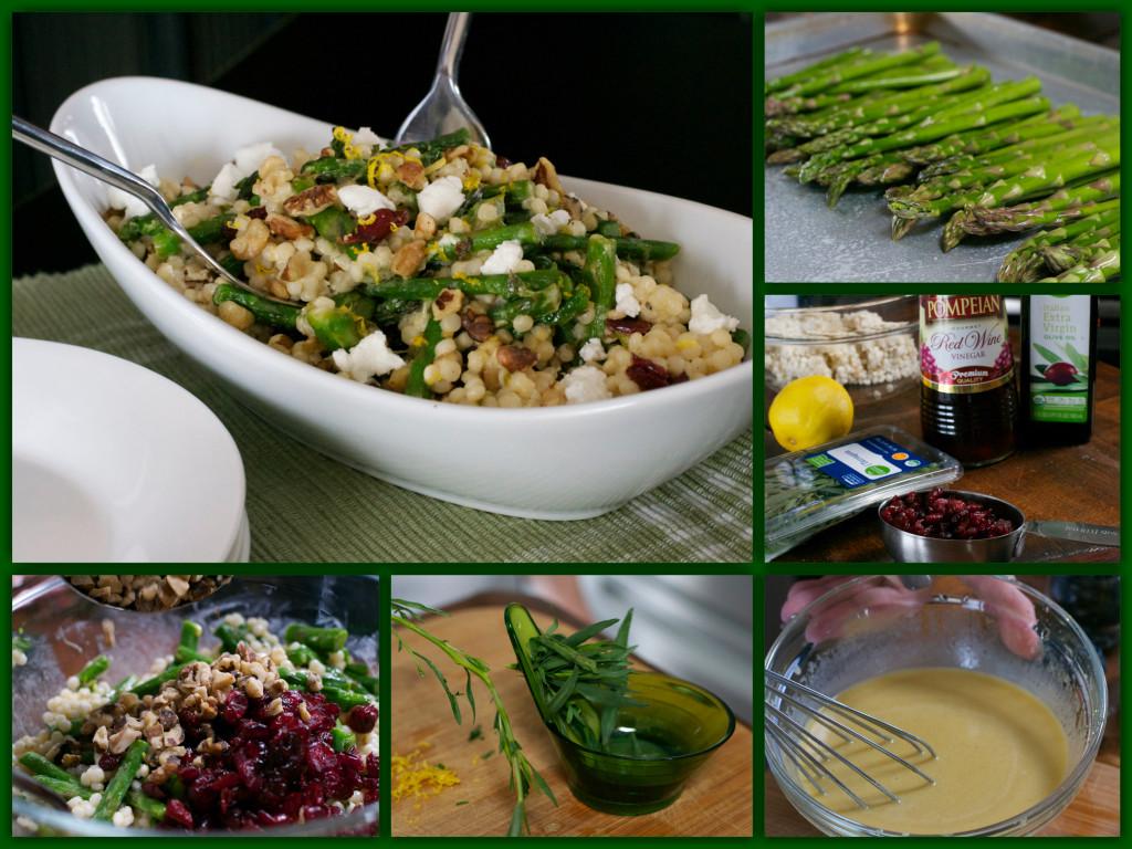 Spring Asparagus Salad Collage