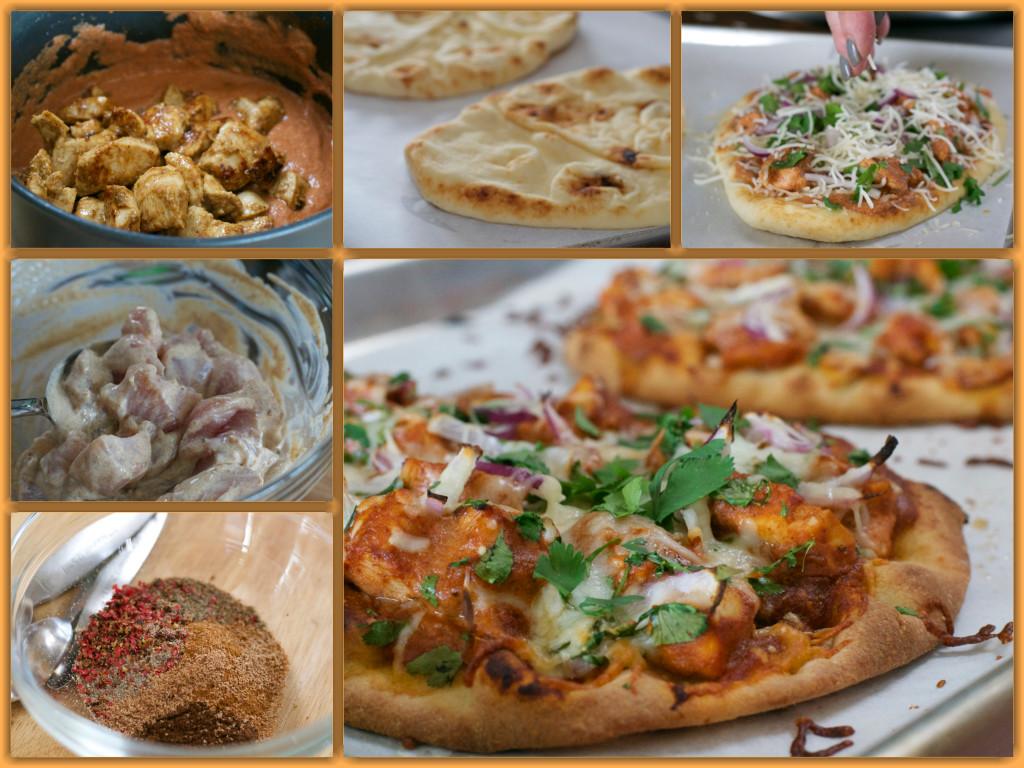 Tikka Masalsa Pizza Collage
