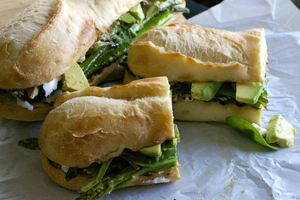 Grilled Asparagus Goat Cheese Sandwich 5