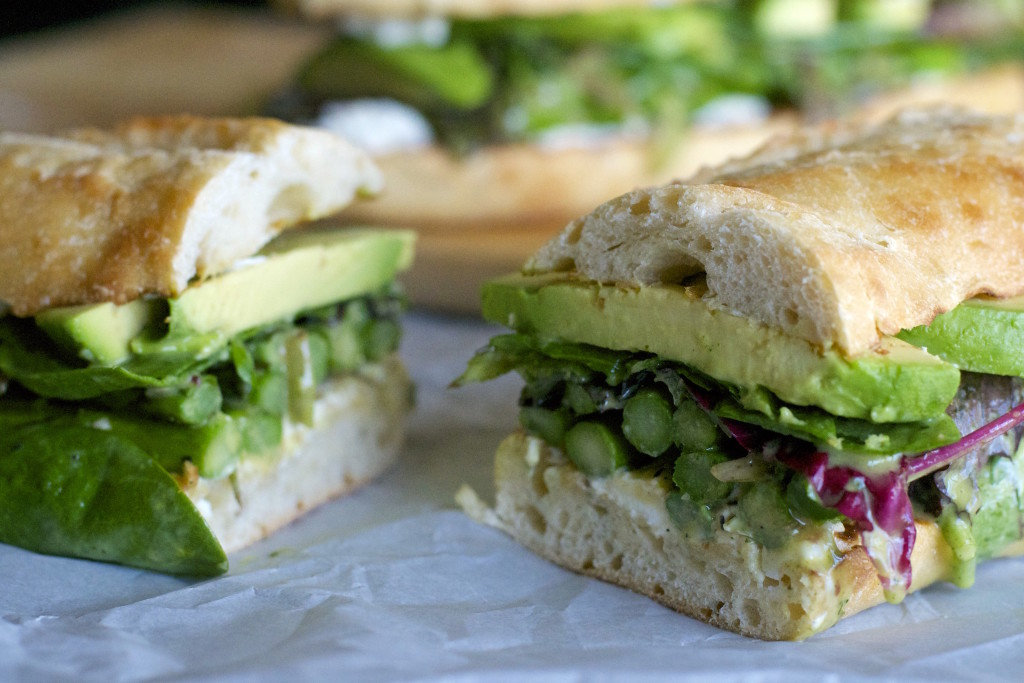 Grilled Asparagus Goat Cheese Sandwich 4