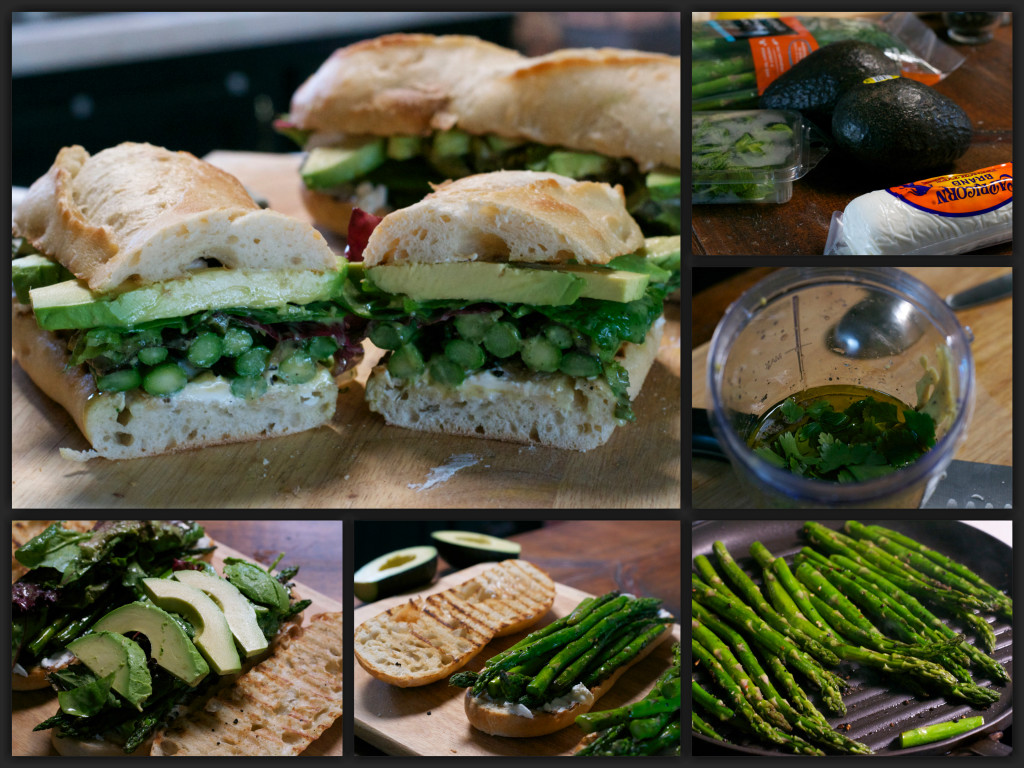 Grilled Asparagus Goat Cheese Sandwich Collage