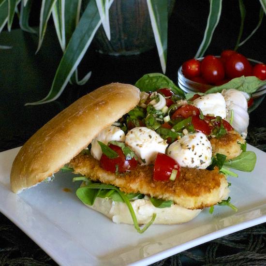 Caprese Chicken Tender Sandwich