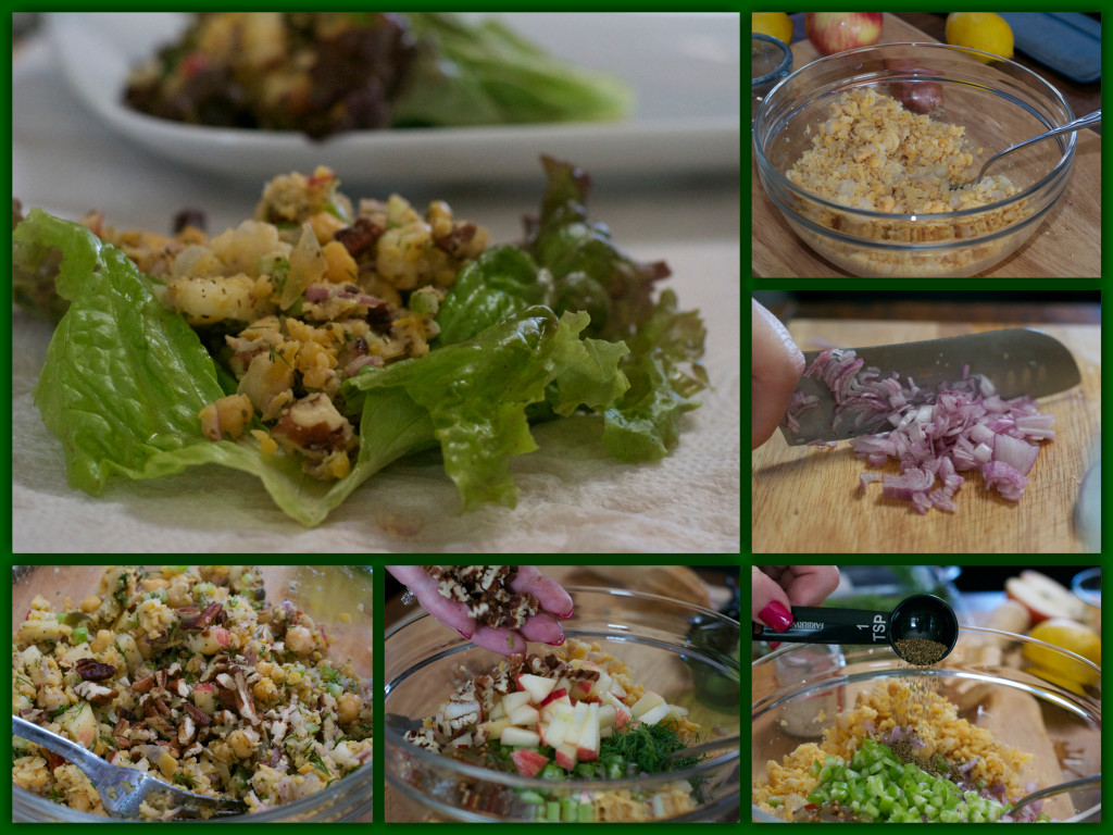 Chickpea Salad with Apples and Pecans Collage